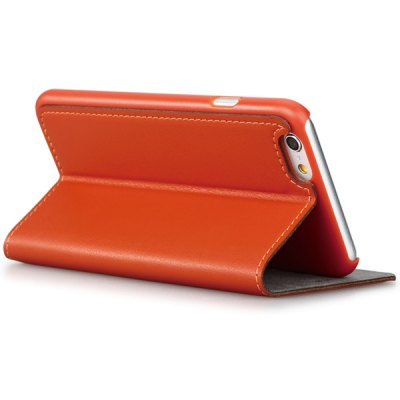 Гаджет   GGMM Stand Design PC and Genuine Leather Material Cover Case for iPhone 6  -  4.7 inch