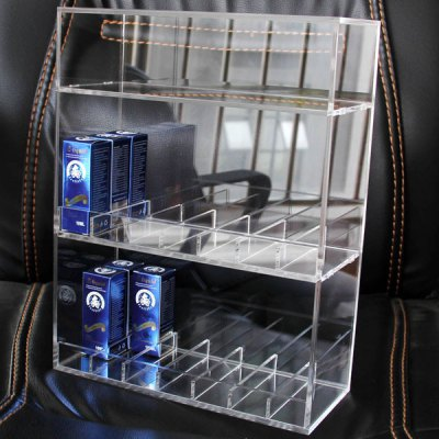 ФОТО 14 Slots 3 Layers Electronic Cigarette / Atomizer / Liquid Bottles Acrylic Display Stand