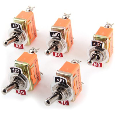 AC 250V 15A 2Pin Toggle On / Off Switch / Switches for Electronic DIY  -  5PCS