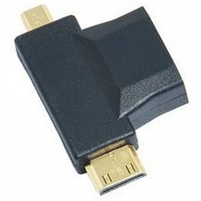 3 in 1 1080P HDMI Female to Micro / Mini HDMI Male Adapter for HDTV DVD Player TV BoxCables &amp; Connectors<br>3 in 1 1080P HDMI Female to Micro / Mini HDMI Male Adapter for HDTV DVD Player TV Box<br><br>Type: Adapter<br>Material: Plastic<br>Available Color: Black<br>Interface: HDMI, Mini HDMI, Micro HDMI<br>Product Weight: 0.021 kg<br>Package Weight: 0.077 kg<br>Product Size (L x W x H): 4.5 x 2.5 x 0.4 cm / 1.77 x 0.98 x 0.16 inches<br>Package Size (L x W x H): 10 x 8 x 1 cm / 3.93 x 3.14 x 0.39 inches<br>Package Contents: 1 x 3 in 1 HDMI Female to Micro / Mini HDMI Male Adapter