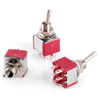 Гаджет   AC 250V 2A / AC 120V 5A 6Pin Toggle Switch / Switches for Electronic DIY  -  5PCS DIY Parts & Components