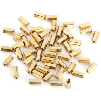 DIY M3 x 10mm Two - way Brass Binding Post Terminals for Arduino  -  50PCS