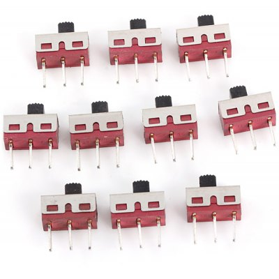 AC 125V 2A 3Pin Slide Switches for Learners to DIY  -  10PCS