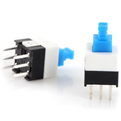 Фотография 20Pcs 7.0 x 7.0mm 6Pin Self Lock Switch for DIY Project