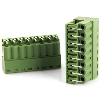 5.08mm 8Pin Curved Screw Terminal Blocks for DIY Project  -  ( 300V 10A / 10PCS )