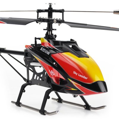 WLtoys V913 Flybarless 2.4G 4 Channel MEMS Gyro RC Helicopter Airflow Sky Leader Remote Control Copter with LCD Transmitter