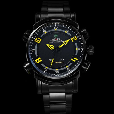 Фотография WEIDE Steel Band Sports Watch with Contrast Color Dial for Man