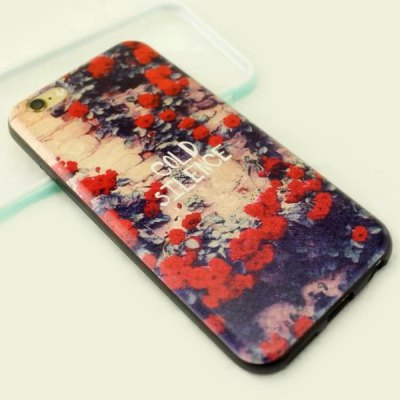 Фотография Stylish Flower Pattern TPU and PU Material Back Cover Case for iPhone 6  -  4.7 inch