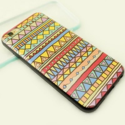 ФОТО Stylish Minority Style Triangle Pattern TPU and PU Material Back Cover Case for iPhone 6 Plus  -  5.5 inch