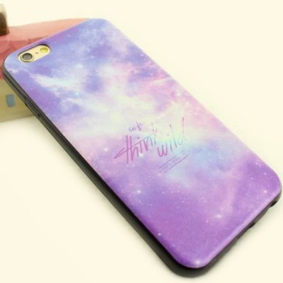 ФОТО Stylish Starry Sky Pattern TPU and PU Material Back Cover Case for iPhone 6  -  4.7 inch