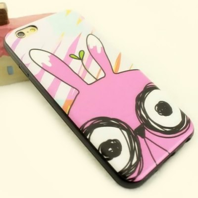 ФОТО Stylish Glasses Pattern TPU and PU Material Back Cover Case for iPhone 6  -  4.7 inch