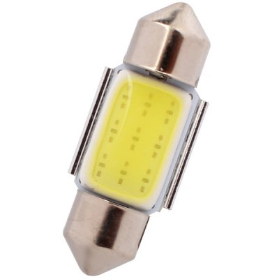 MZ Double Pointed 31mm 80lm 2W White Light 1 COB LED Car License Plate Light Reading Lamp