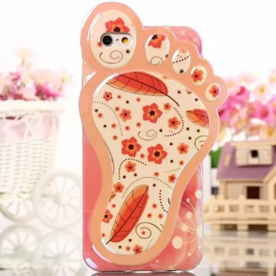 Гаджет   Novelty Foot Design Flower Pattern TPU Material Back Cover Case for iPhone 6  -  4.7 inch iPhone Cases/Covers