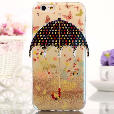 ФОТО Novelty Umbrella Design Polka Dots Pattern TPU Material Back Cover Case for iPhone 6  -  4.7 inch