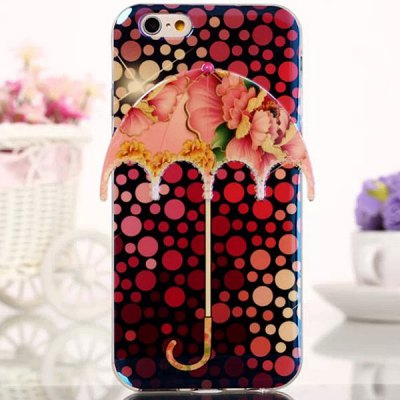 Фотография Novelty Umbrella Design Flower Pattern TPU Material Back Cover Case for iPhone 6  -  4.7 inch