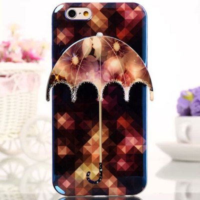 Novelty Umbrella Design Flower Pattern TPU Material Back Cover Case for iPhone 6  -  4.7 inch