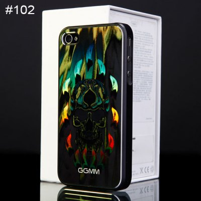 Durable Plastic Mobile Phone Protective Back Shell Cover with Laser Engraving Pattern
