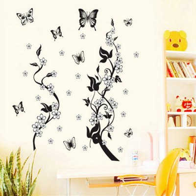 Butterfly and Vines Style Wall Sticker