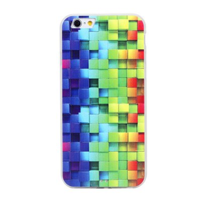 PC Material Frosted Back Cover Case with Grid Pattern for iPhone 6 Plus  -  5.5 inches
