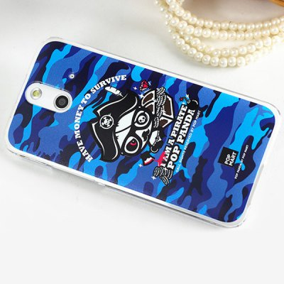 Гаджет   Pirate Panda Pattern 3D Coloured Sculpture Protective Case for HTC One E8 Other Cases/Covers
