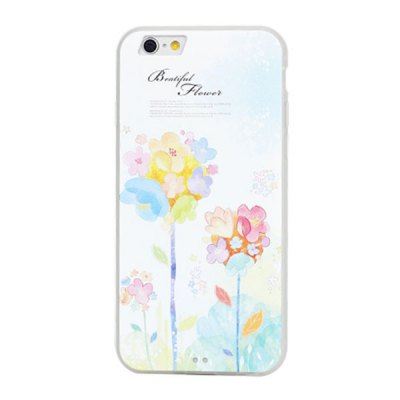 Фотография PC Material Frosted Back Cover Case with Flower Pattern for iPhone 6 Plus  -  5.5 inches