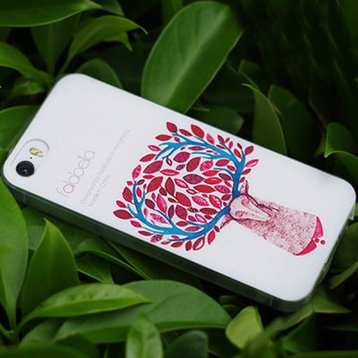 Embossment Design Back Cover Case with Silicone Material for iPhone 5 / 5S