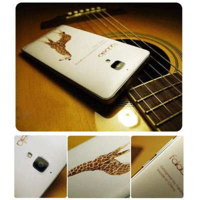 Фотография Falabela Giraffe Pattern 3D Coloured Sculpture Protective Case for Xiaomi 4