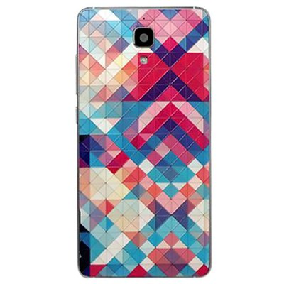 Falabela Plaid Pattern 3D Coloured Sculpture Protective Case for Xiaomi 4
