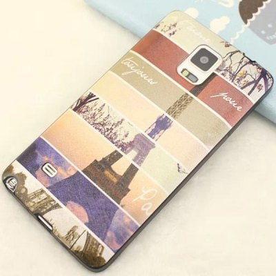TPU and PU Material Back Cover Case for Samsung Galaxy Note 4 N9100