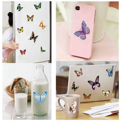 Фотография Colorful Butterfly Pattern Home Appliances Decoration Wall Sticker