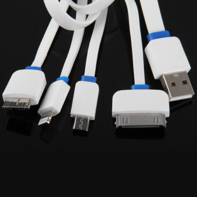 4 in 1 5Pin 8Pin 30Pin Micro B Data / Charging Noodle Cable