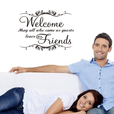 ФОТО Welcome Pattern Home Appliances Decoration Wall Sticker