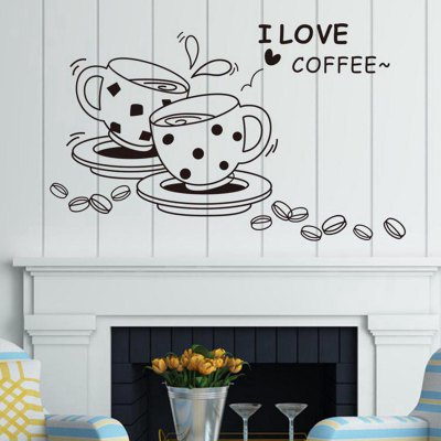 I Love Coffee Style Wall Sticker