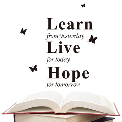 ФОТО Learn Live Hope English Word Pattern Home Appliances Decoration Wall Sticker
