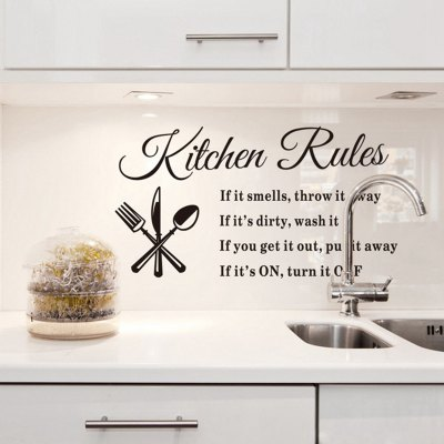 Kitchen Rules Style Wall Sticker