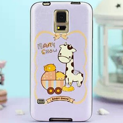 TPU and PU Material Back Cover Case for Samsung Galaxy S5 i9600 SM-G900