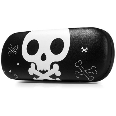 Crossbones Pattern Glasses Case for Creative Gift