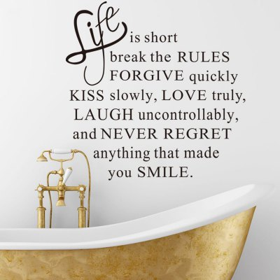 Life is Short English Word Style Wall Sticker