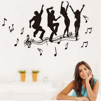 Crazy for Music Style Wall Sticker
