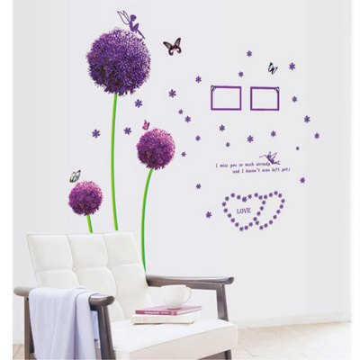 ФОТО Dandelion and Butterfly Pattern Home Appliances Decoration Wall Sticker