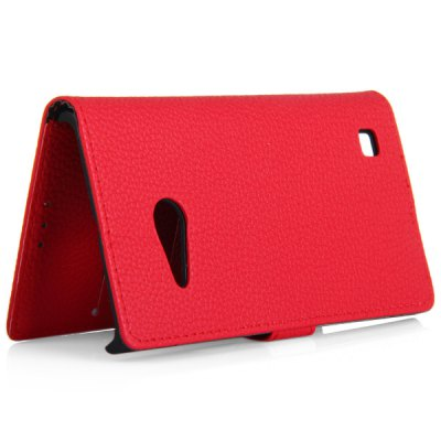 Фотография Litchi Texture Design Full Body Case with Card Holder Stand for Nokia N735