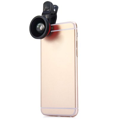 ФОТО LIEQI LQ002 Clamp Camera Lens 0.4X Super Wide Angle for iPhone 6 / 6 Plus iPad Samsung and Most of Smart Phone