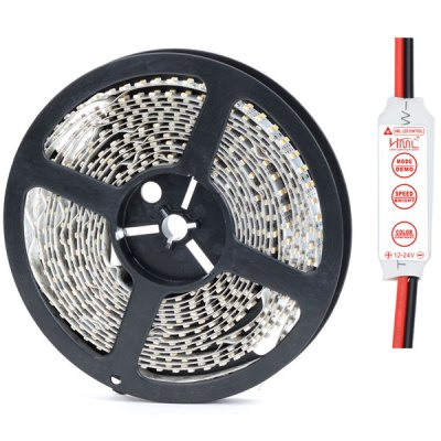 HML 5M 96W SMD 3528 1200 LEDs Strip Ribbon Light Decorating Light  -  4500LM 3300K 12VLED Strips<br>HML 5M 96W SMD 3528 1200 LEDs Strip Ribbon Light Decorating Light  -  4500LM 3300K 12V<br><br>Brand: HML<br>Model: D35<br>Chip Brand: EPILEDS<br>Light Color: Warm White, Cold White<br>CCT/Wavelength: 3300K, 6500K<br>Voltage (V): DC12<br>Output Power(W): 96W<br>Theoretical Lumen(s): 5000Lm<br>Actual Lumen(s): 4500Lm<br>Features: Low Power Consumption, Dual-row<br>Length (m): 5m<br>Number of LEDs: 1200 x SMD-3528 LED<br>Material: FPC<br>Suitable for: Decoration light, outdoor building / car decoration / bridge / shopping mall / counter decoration light and indoor lighting, etc.<br>Certification: CE, RoHS<br>Product weight: 0.180 kg<br>Package weight: 0.23 kg<br>Product size (L x W x H): 16 x 16 x 1.5 cm / 6.29 x 6.29 x 0.59 inches<br>Package size (L x W x H): 18 x 18 x 2 cm / 7.07 x 7.07 x 0.79 inches<br>Package Contents: 1 x HML Dual-row 5M 96W 1200 SMD 3528 LED Strip Light Festival Decoration, 1 x HML Mini Controller