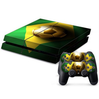 Football Pattern Stickers for PS4 Game Player Handle