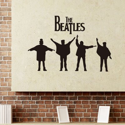 ФОТО The Beatles Pattern Home Appliances Decoration Wall Sticker