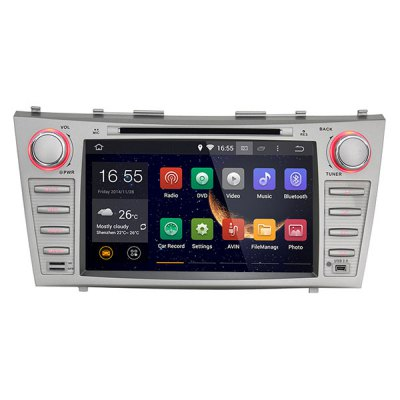 8 Inch Touch Screen Android 4.4.4 Double Din Car DVD Player with GPS Navigation OBD WiFi Airplay