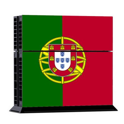 Portuguese Flag Style Game Console Gamepad Controller Stickers Skin for PS4