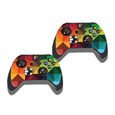 Фотография Colorful Rhombus Style Game Console Gamepad Controller Stickers Skin for Xbox One