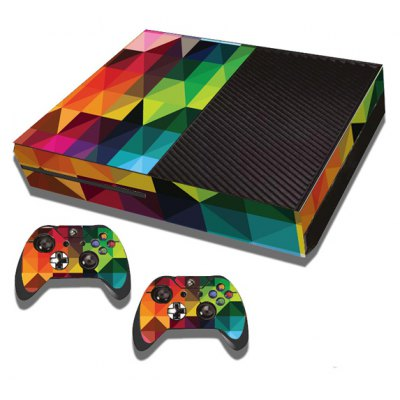 Colorful Rhombus Style Game Console Gamepad Controller Stickers Skin for Xbox One