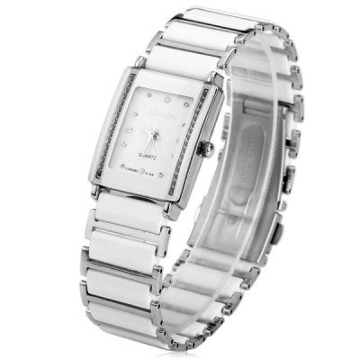 Longbo Diamond Ceramic Quartz Men Watch with Rectangle Dial